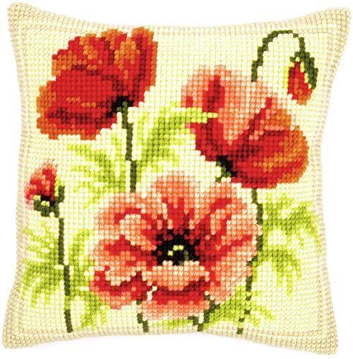 Vervaco maki poduszka z haftem krzyżykowym, wielokolorowa