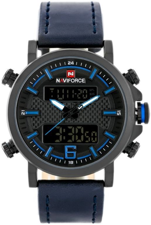 ZEGAREK MĘSKI NAVIFORCE - NF9135 (zn076d) - black/blue + box