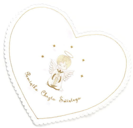Szatka do Chrztu Św. z aniołkiem