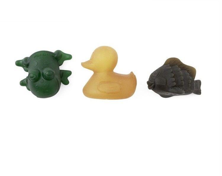 Kaczuszka, Ryba i Żabka do kąpieli z naturalnego kauczuku, HEVEA