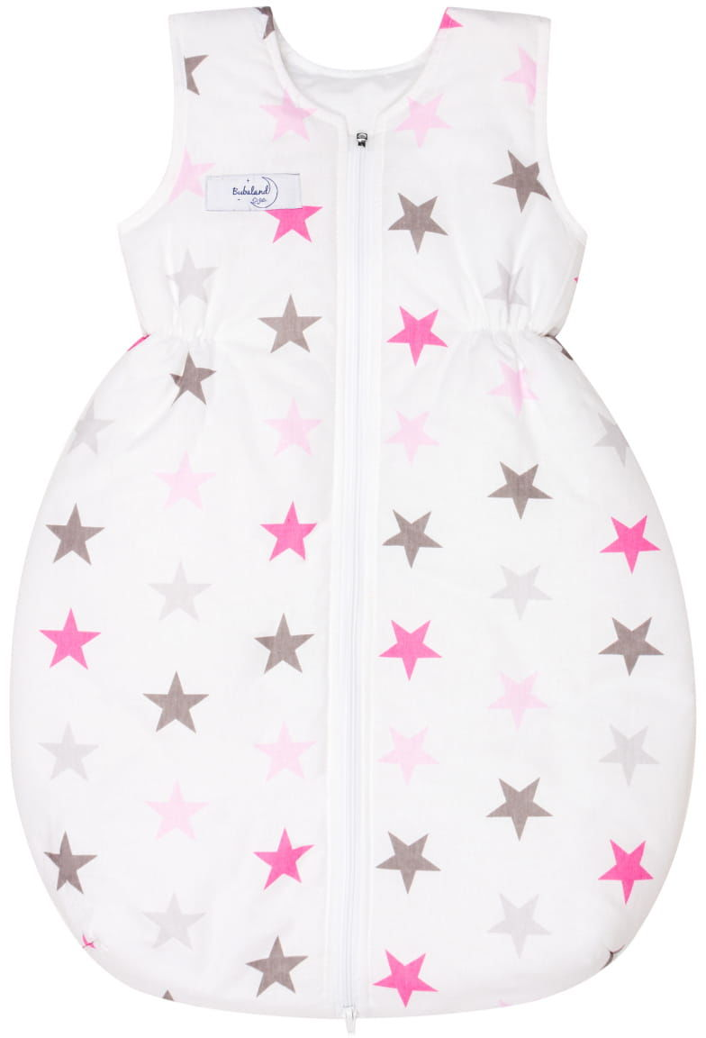 Śpiworek do spania na lato 0,5 Tog niemowlęcy Białe gwiazdy