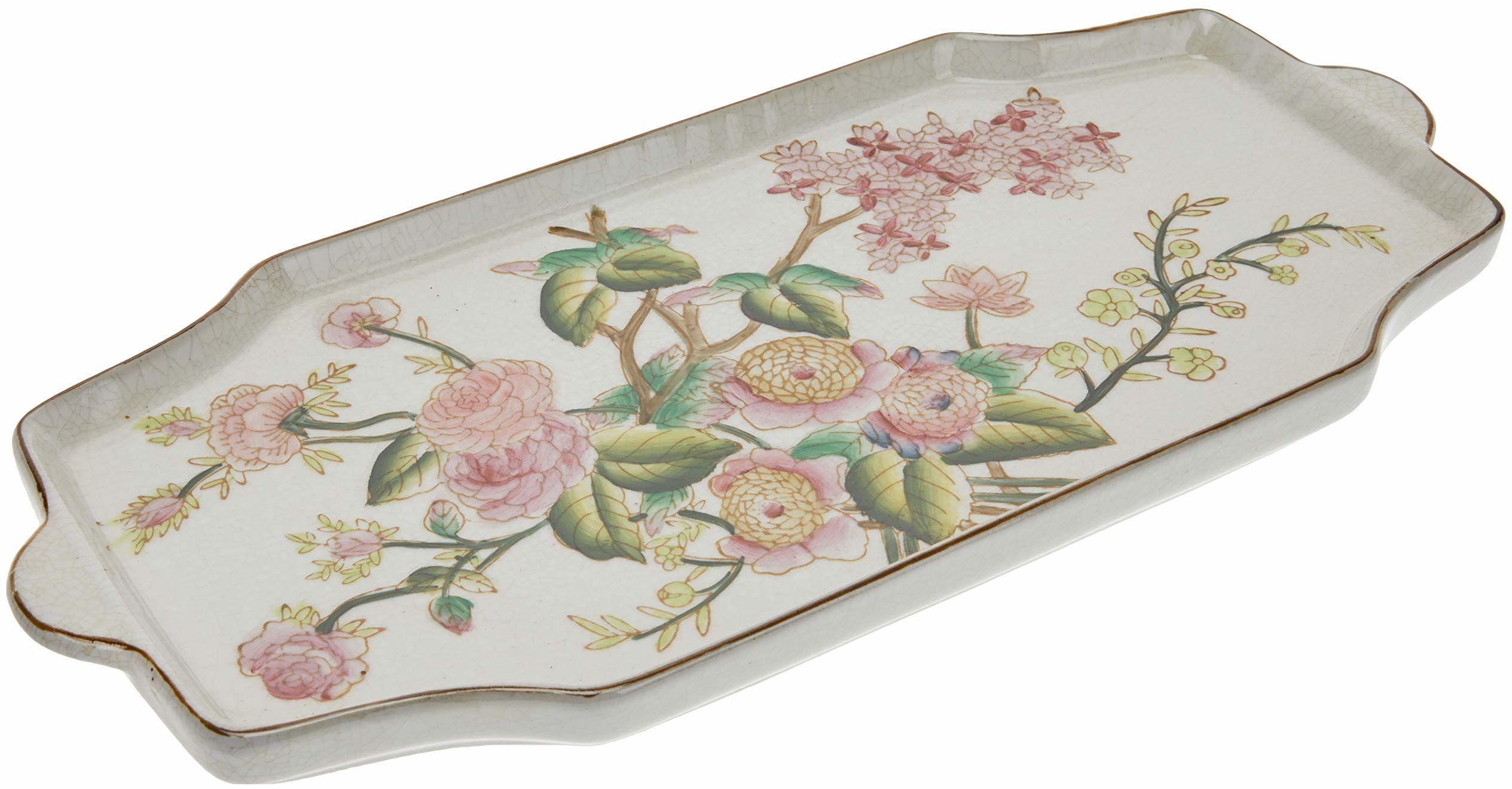 Better & Best Plumcake źródło z rysunkiem wielbłąda, ceramika, różowa, zielona i biała, 39,5 x 17 x 5 cm