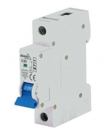 C50A 1P 6kA Wyłącznik nadprądowy bezpiecznik Typ S eska Bemko A00-S7-1P-C50 1535