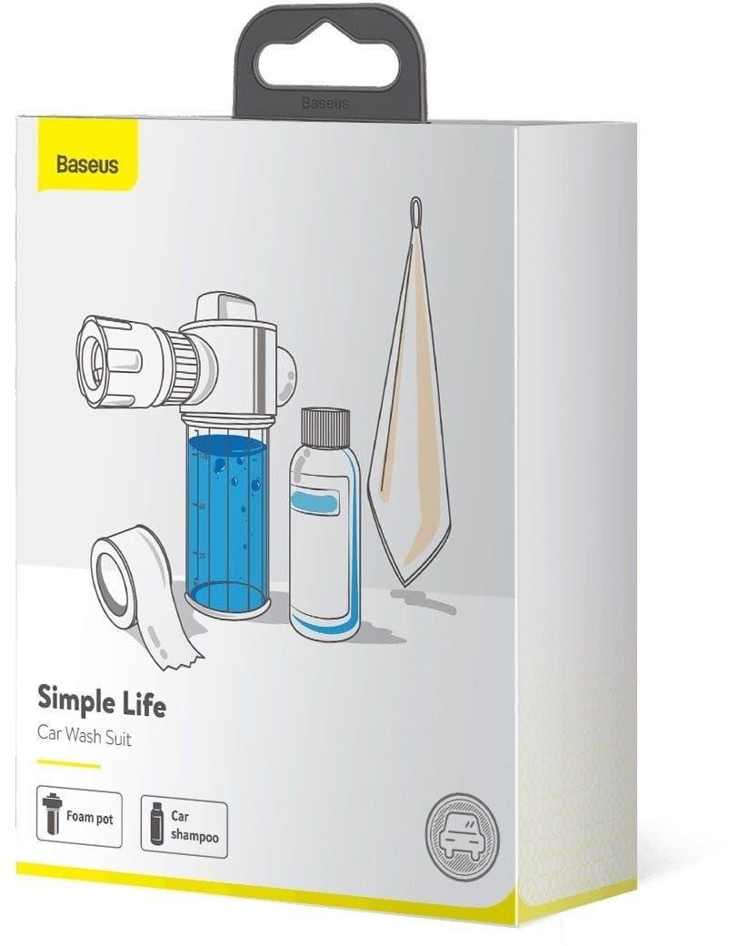 Zestaw akcesoriów Baseus Simple Life do mycia samochodu (pianownica, szmpon, taśma, ręcznik)