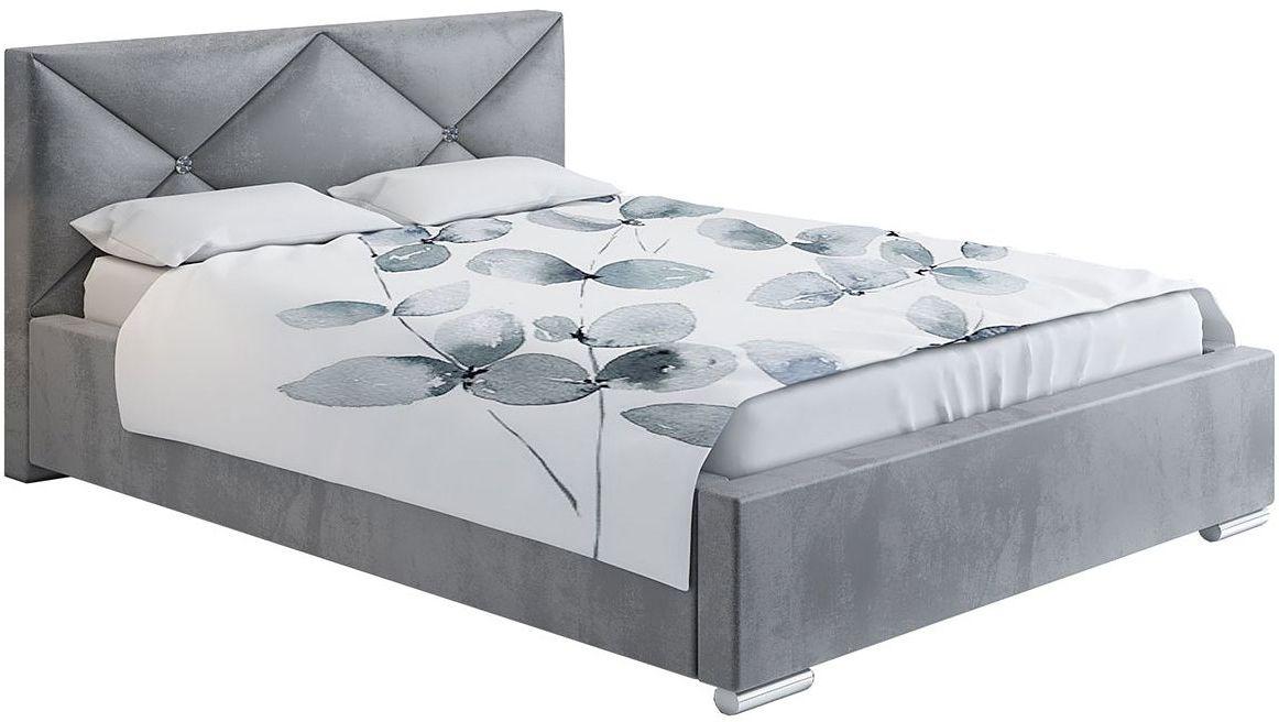 Małżeńskie łóżko ze schowkiem 200x200 Lenomi 3X - 48 kolorów