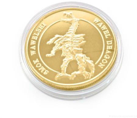 Moneta Smok wawelski pozłacana