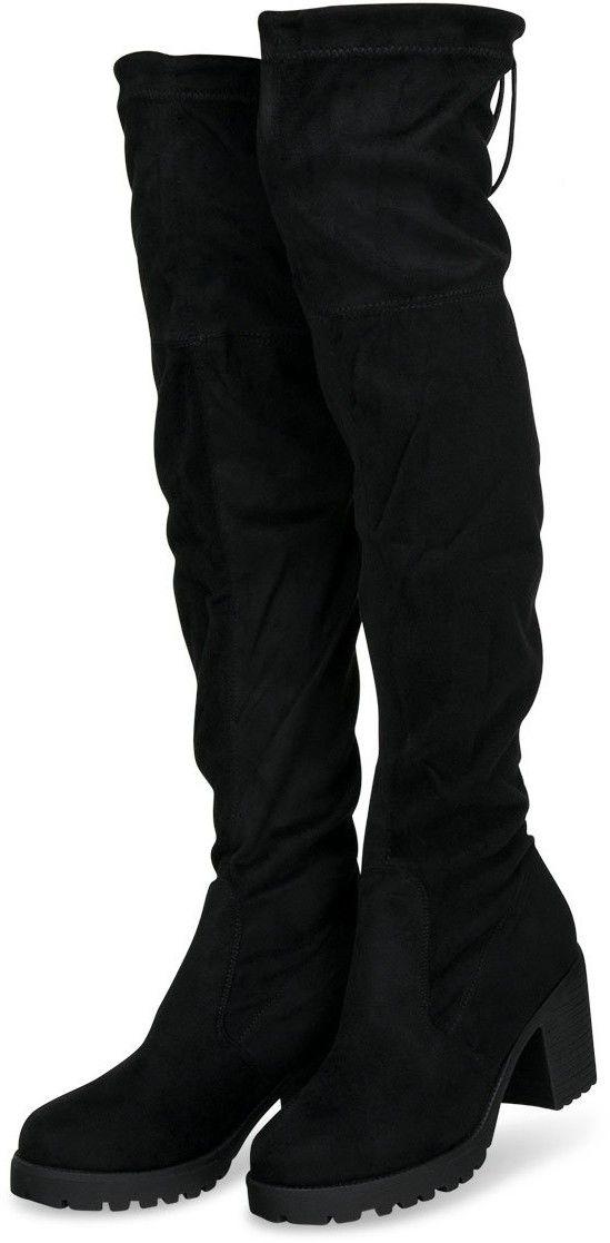Kozaki damskie Sixth Sens F162 Czarne