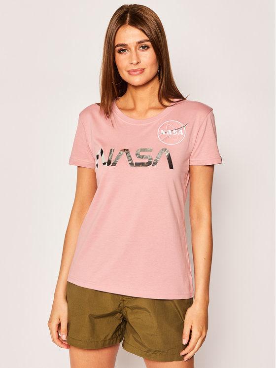 Alpha Industries T-Shirt Nasa Pm 198053 Różowy Regular Fit