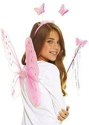 aec-set motyl różowy, uniseks dzieci, aq05622, rozmiar uniwersalny
