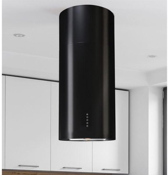 Okap wyspowy Cylindro Eco Black Matt 40 cm
