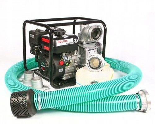 Motopompa, pompa spalinowa Holida QGZ80-30 + węże zestaw