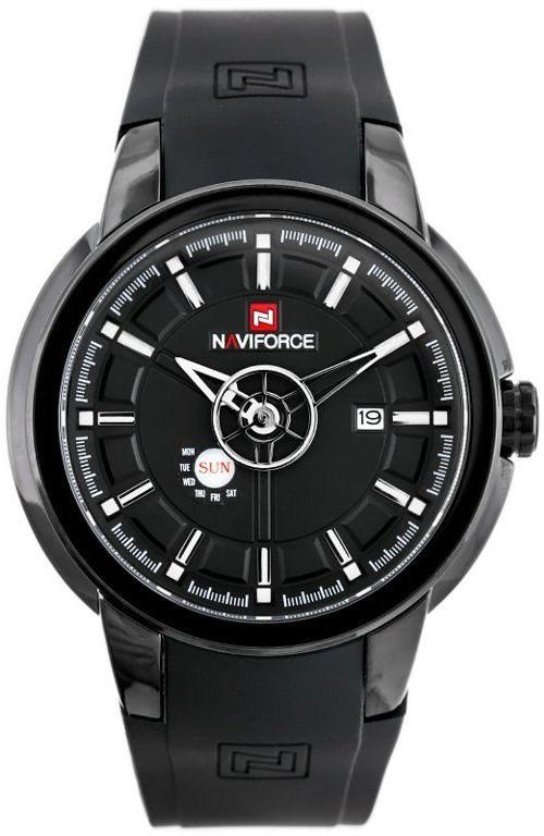 ZEGAREK MĘSKI NAVIFORCE - NF9107 (zn080a) - black/white + box