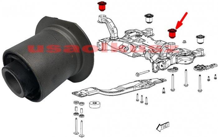 Tuleja kołyski silnika sanek zawieszenia przedniego PRZEDNIA Dodge Journey 2011-