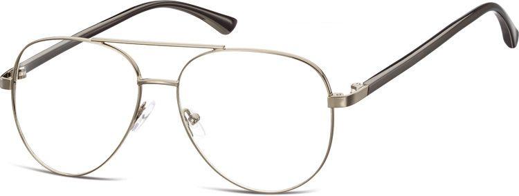 Okulary oprawki Pilotki zerówki metalowe korekcyjne 931B grafitowe + czarne