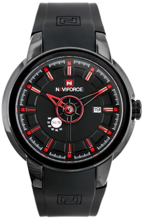 ZEGAREK MĘSKI NAVIFORCE - NF9107 (zn080b) - black/red + box