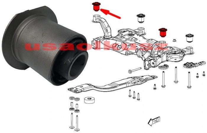 Tuleja kołyski silnika sanek zawieszenia przedniego PRZEDNIA Dodge Avenger sedan 2011-