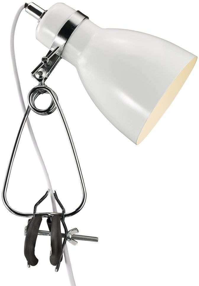 Lampa biurkowa Cyclone 73072001 Nordlux biała oprawa z klipsem