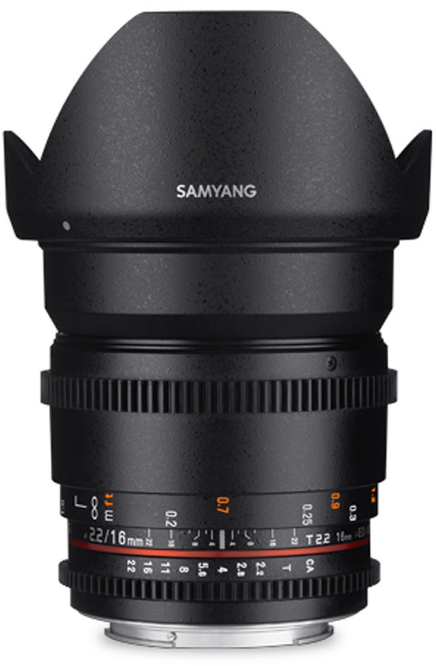 Samyang 16mm T2.2 VDSLR do Canon M