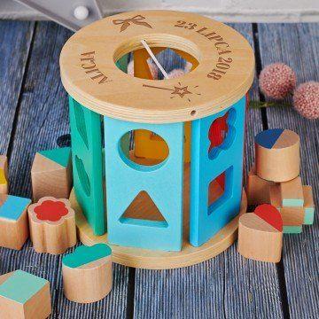 Kokardka - Drewniany sorter: kształty geometryczne