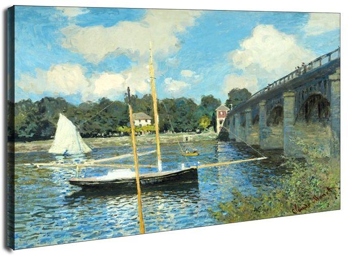 The bridge at argenteuil, claude monet - obraz na płótnie wymiar do wyboru: 50x40 cm