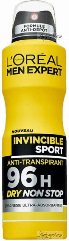 L''Oreal - MEN EXPERT - INVINCIBLE SPORT ULTRA ABSORBING ANTI-PERSPIRANT 96H - Antyperspirant w aerozolu dla mężczyzn - 150 ml