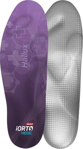 Ultra-cienka wkładka na koślawość palców - halluks, palce młotkowate, szponiaste - płaskostopie poprzeczne (iORTO MEDIC HALLUX)