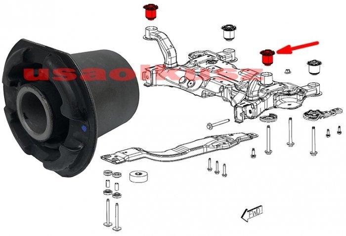 Tuleja kołyski silnika sanek zawieszenia przedniego PRZEDNIA Chrysler 200 sedan -2014