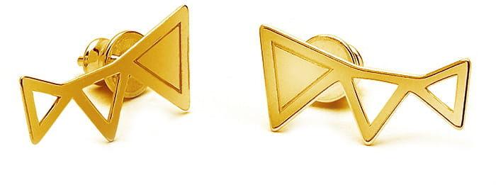 Kolczyki trzy trójkąty sztyft