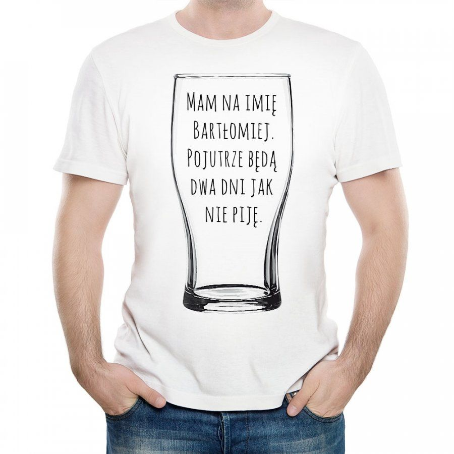 Koszulka Męska z Twoim Nadrukiem NIE PIJĘ
