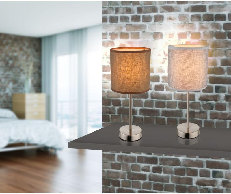 Globo PACO 15185T lampa stołowa szara 1xE14 40W 15cm