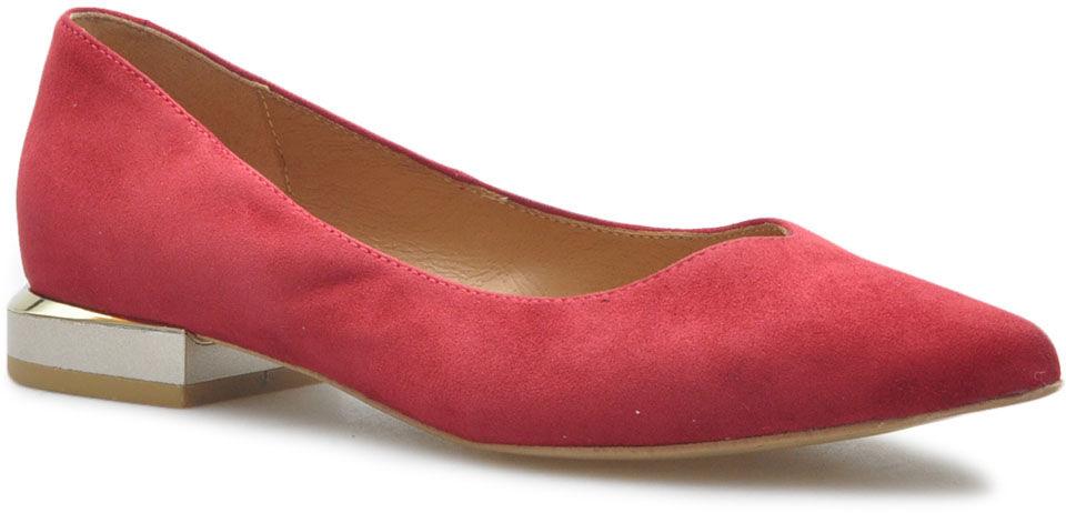 Baleriny Venetti 1493 Czerwone zamsz
