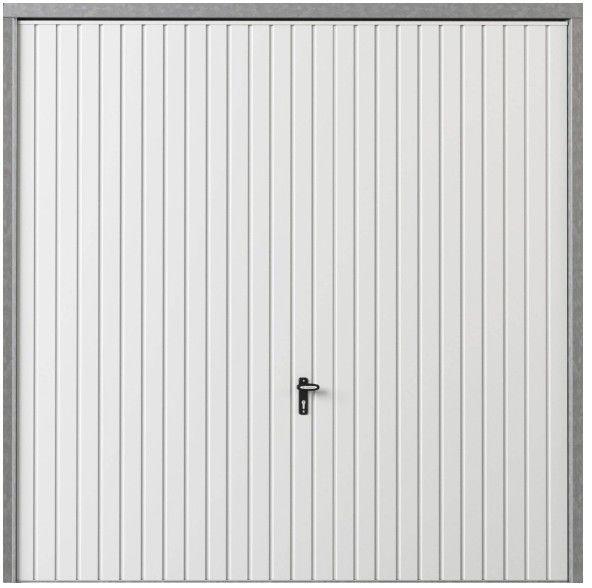 Brama garażowa uchylna 2500 x 2125 mm biała