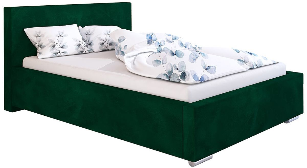Tapicerowane łóżko z zagłówkiem 120x200 Eger 2X - 48 kolorów