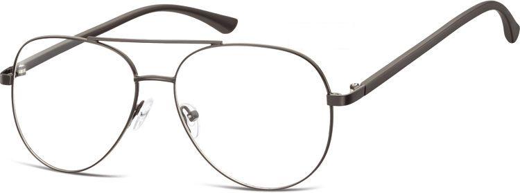 Okulary oprawki Pilotki zerówki metalowe korekcyjne 931F czarne