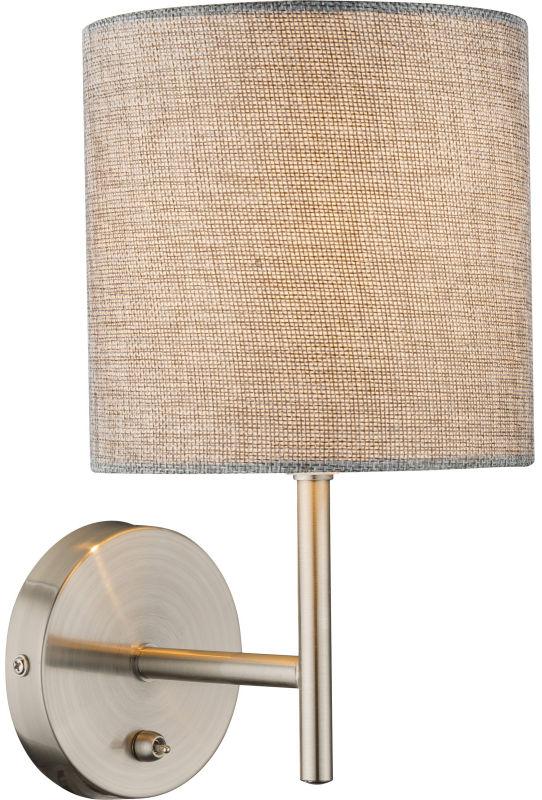 Globo PACO 15185W kinkiet lampa ścienna szara 1xE14 40W 26cm