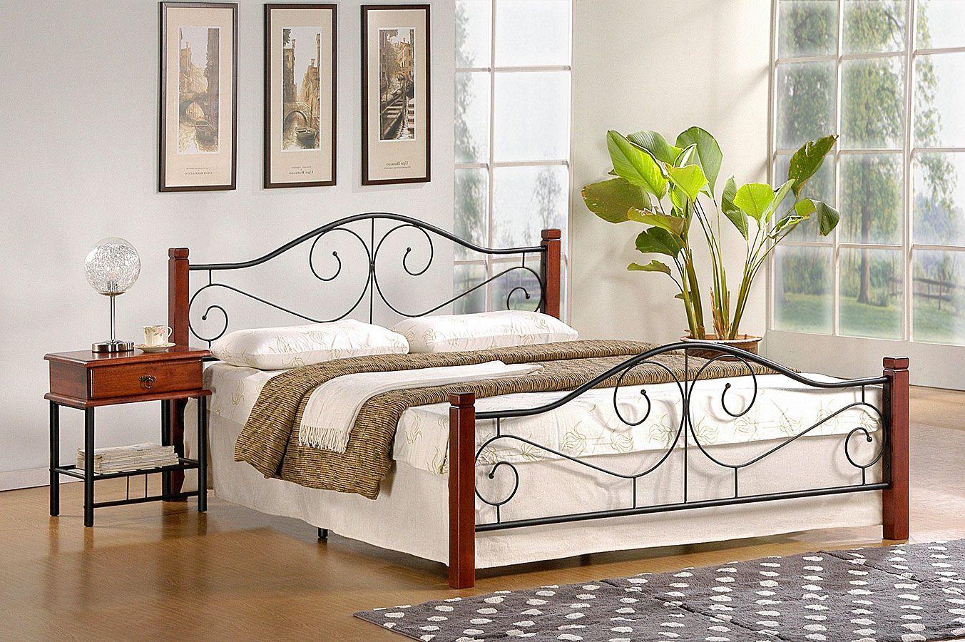 Łóżko Sirela 140x200 - czereśnia antyczna