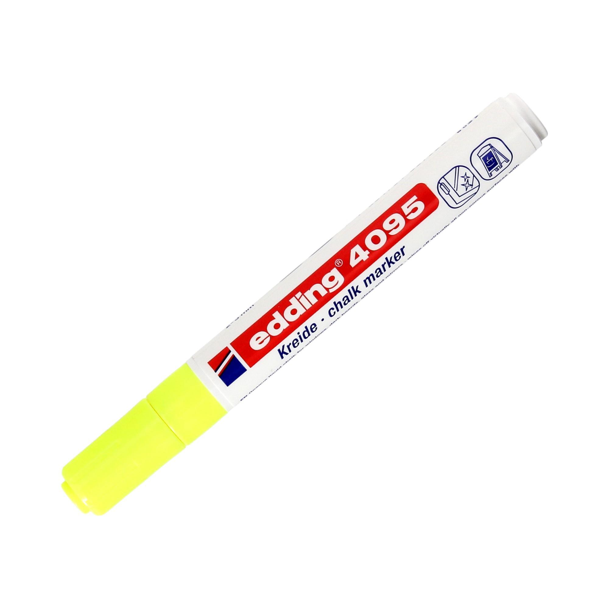 Marker szyby 2.0-3.0mm żółty okrągły Edding 4095