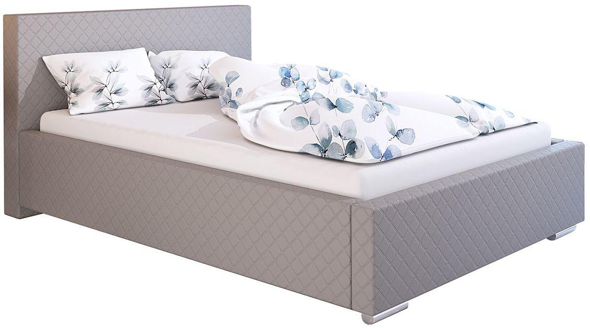 Podwójne łóżko tapicerowane 140x200 Eger 2X - 48 kolorów