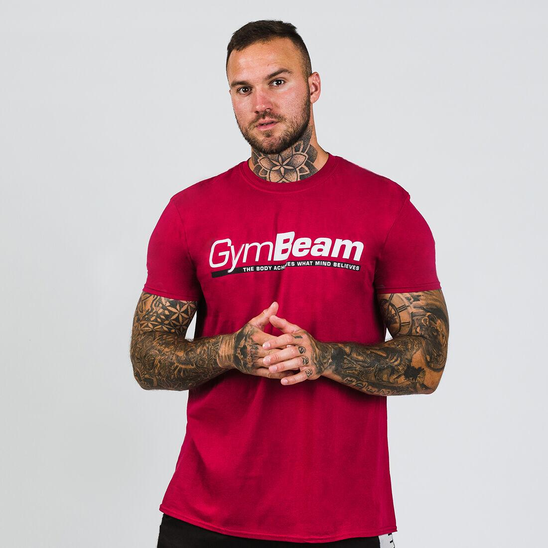 GymBeam Koszulka Body and Mind Cardinal Red