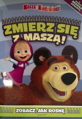 Masza i Niedźwiedź. Zmierz się z Maszą! Książka z miarką wzrostu
