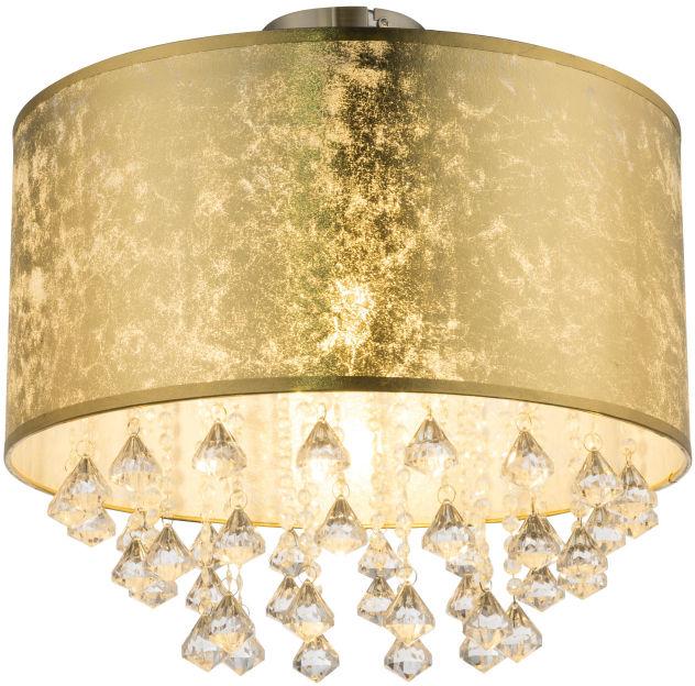 Globo AMY 15187D3 plafon lampa sufitowa złota 1xE27 60W 40cm