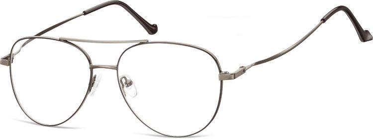 Okulary oprawki Pilotki zerówki metalowe korekcyjne 932B grafitowe + czarne
