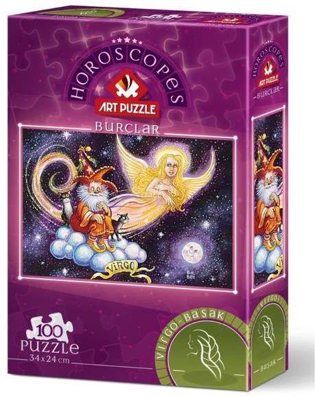 Puzzle 100 Znaki zodiaku - Panna - Artpuzzle