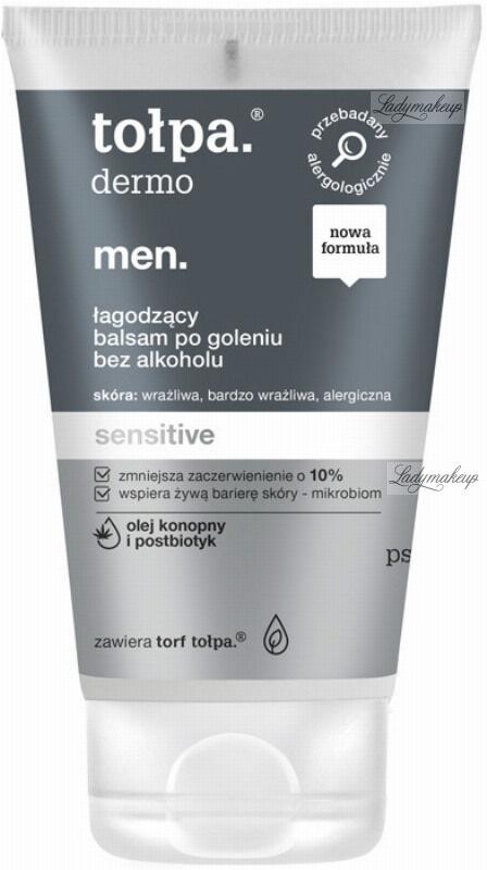 Tołpa - Dermo Men Sensitive - Łagodzący balsam po goleniu - Bez alkoholu - 100 ml