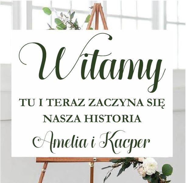 Naklejka ślubna Nasza historia + imiona