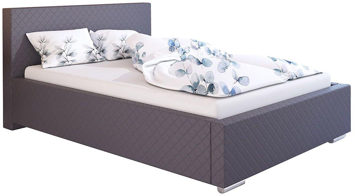 Tapicerowane łóżko dwuosobowe 160x200 Eger 2X - 48 kolorów