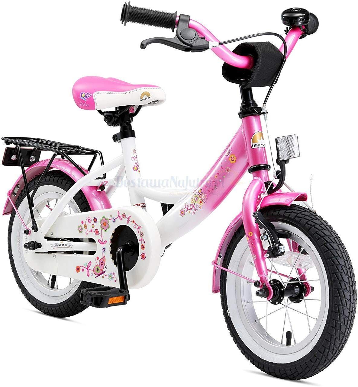 """Rower dla dzieci 12"""" BIKESTAR GERMANY classic różowy"""