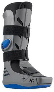 Wysoki anatomicznie dopasowany but ortopedyczny - pompowany z osłoną na palce - złamania goleni, stopy, urazy kostki (XLR8 long)