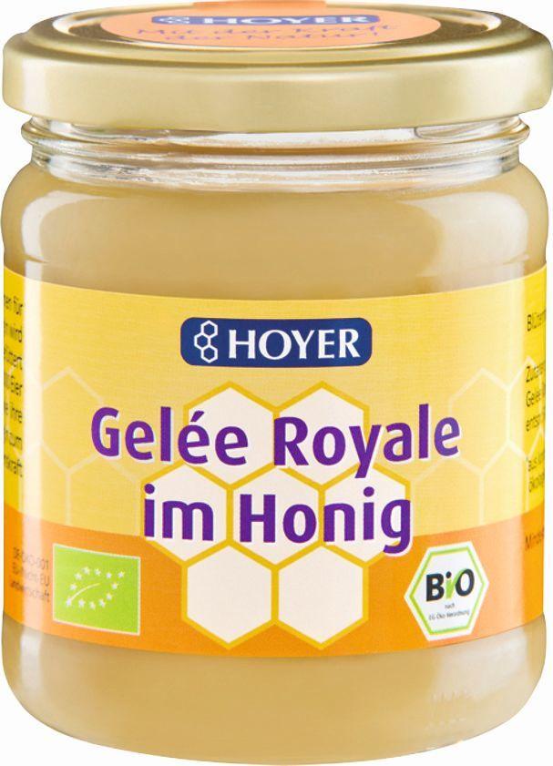 Miód z mleczkiem pszczelim bio 250 g - hoyer