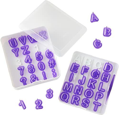 Wilton zestaw foremek do kremówek do liter i cyfr, 40-częściowy